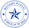 Example of Texas Notary Seal